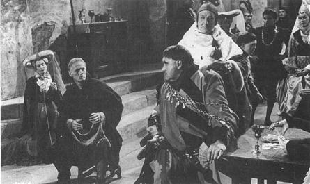 A scene from the filmSaint Joan.