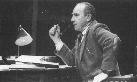 Nigel Hawthorne as C. S. Lewis in a 1989 production of Shadowlands, performed at Londons Queens Theatre.