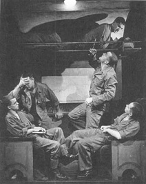 A scene from the theatrical production of Biloxi Blues at The Grande Theatre in London, Ontario.