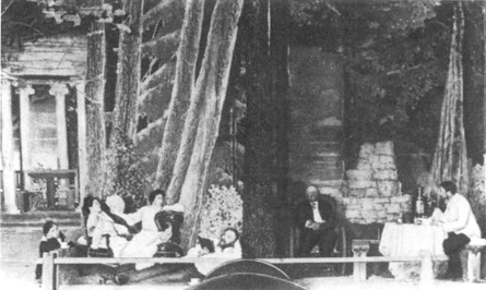 A scene from the 1905 production of Anton Chekhovs The Seagull.