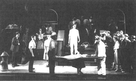 Janis Kelly and Kristine Ciesinski perform in a 1989 musical production of Street Scene.