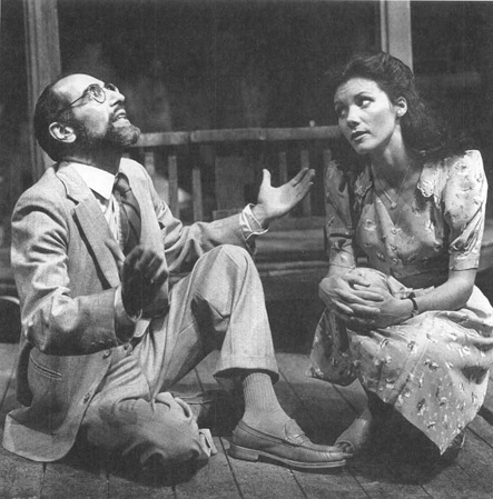 George Sperdakos and Kerrie Keane in a scene from a theatrical production of Talleys Folly.