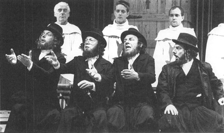 Michael Cadman, George Raistrick, Geoffrey Freshwater, and Alun Armstrong in the 1987production of The Jew of Malta