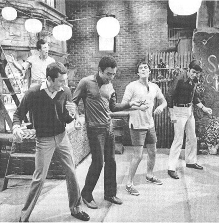 A scene from the 1970 film adaptation of The Boys in the Band, directed by William Friedkin
