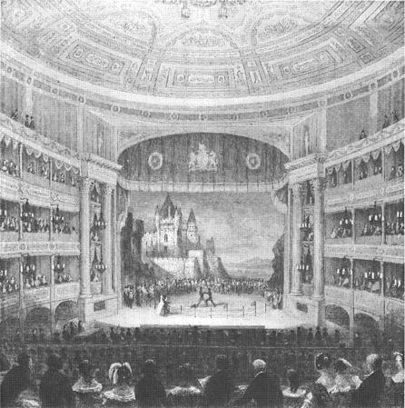 The Drury Lane Theatre in London, England