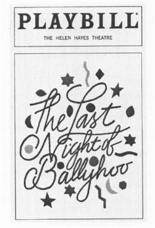 Playbill cover from The Last Night of Ballyhoo, performed at the Helen Hayes Theatre in 1997