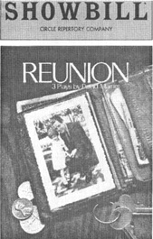 Showbill cover from the 1979 theatrical production of Reunion, written by David Mamet