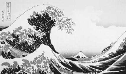 Under the Wave off Kanagawa by Katsushika Hokusai, from the series Thirty-Six Views of Mount Fuji