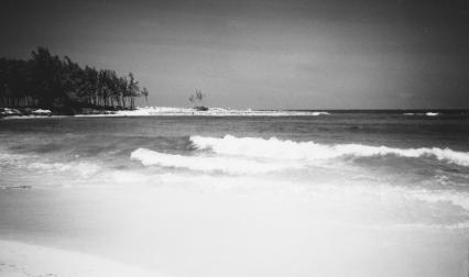 A white shore on Paradise Island, Bahamas