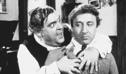 Zero Mostel and Gene Wilder in a 1968 film version of The Producers