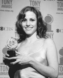 Mary-Louise Parker with her Tony award for Proof