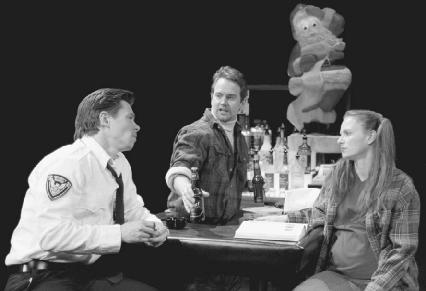 Joe Murphy, Steve Key, and Coleen Werthmann in a 2002 production of Blue Surge