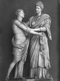 Orestes and his sister, Electra