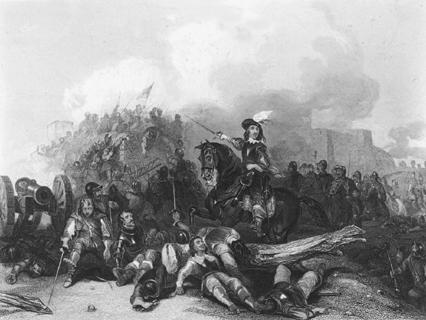 Illustration depicting the English Civil War