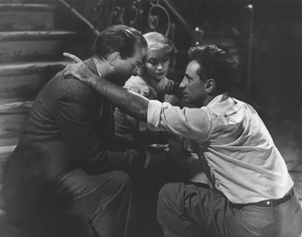 Director Elia Kazan works with actors