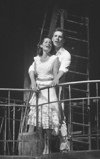 Carolann M. Sanita as Maria and Ryan Silverman as Tony