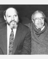 August Wilson (on left)
