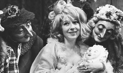 William Stewart, Frances Cuka, and Jack Shepard in a 1966 production of A Chaste Maid in Cheapside