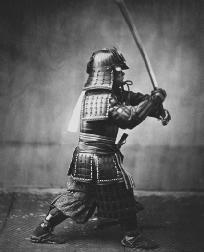Samurai warriors were active in Japan and this one is representative of the male figure portrayed in Hwangs The Sound of a Voice