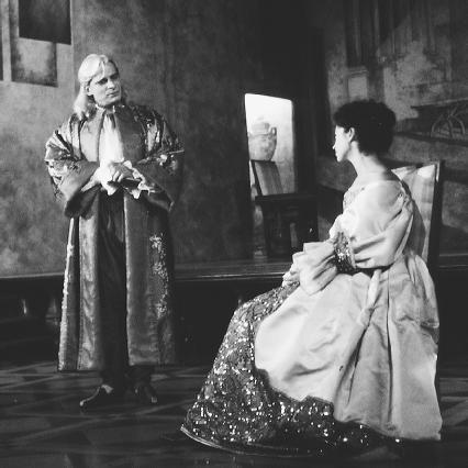 A scene from a 1994 theatrical production of Tartuffe, written by Molire and performed at the Theatre Antoine in Paris, France