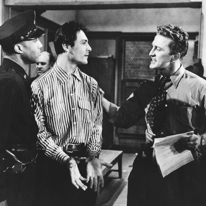 Joseph Wiseman and Kirk Douglas in the 1951 film Detective Story