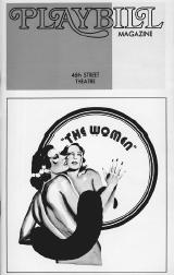 Playbill cover from the 1973 production of The Women, performed at the 46th Street Theatre