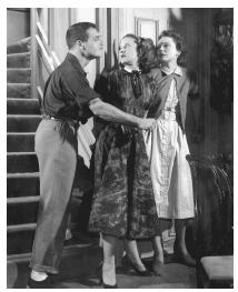 Paul Newman, Patricia Peardon, and Nancy Coleman in a 1955 stage production of The Desperate Hours