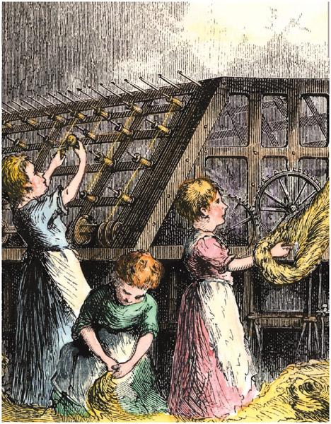 Many children in the Industrial Revolution found work in factories.
