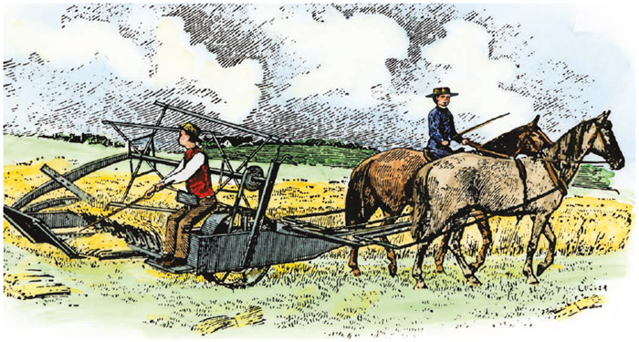 Cyrus McCormick's reaper revolutionized agriculture and allowed food to be grown more cheaply.