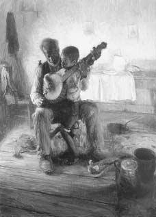 The Banjo Lesson (Henry Ossawa Tanner, 1893). The first African-American artist to receive national and international recognition for his work, Tanner turned to depictions of African-American life in his paintings of the 1890s.  HAMPTON UNIVERS