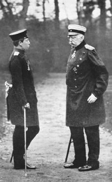 Otto von Bismarck (right) with Kaiser William II. PRIVATE COLLECTIONBRIDGEMAN ART LIBRARYKEN WELSH