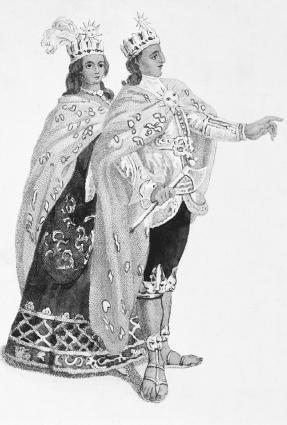 Costume of an Inca man and his wife.  Gianni Dagli Orti/Corbis.