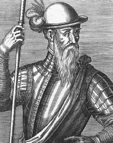 Portrait of Francisco Pizarro, Spanish conquistador.