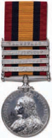 The Queens South Africa medal - was awarded to British troops for service in the Boer War.