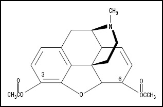 Figure 1. Chemical structure of heroin.