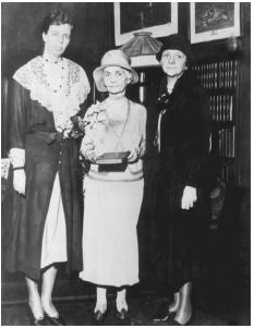 Frances Perkins (right) in New York City in 1931 with Eleanor Roosevelt and Mrs. Percy Pennypacker. FRANKLIN DELANO ROOSEVELT LIBRARY