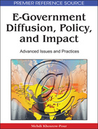 E-Government Diffusion, Policy, and Impact, ed. , v.