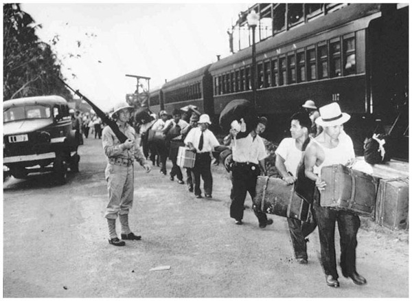 Japanese Latin Americans en route to internment camps in the U.S. (AP Photo/National Japanese American Historical Society)