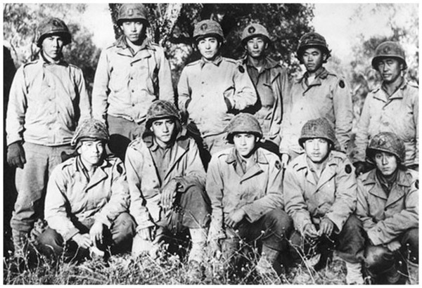 Mainly but not solely comprised of Japanese American soldiers from Hawaii, the 100th Infantry Battalion set an example for the later, larger 442nd Regimental Combat Team. (Center for Military History)