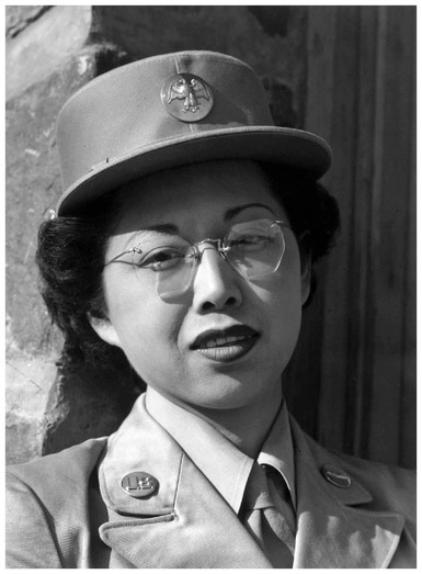 Pvt. Margaret Fukuoka of the Womens Army Corps in 1943. Japanese American men and women served their country during World War II. (Library of Congress)