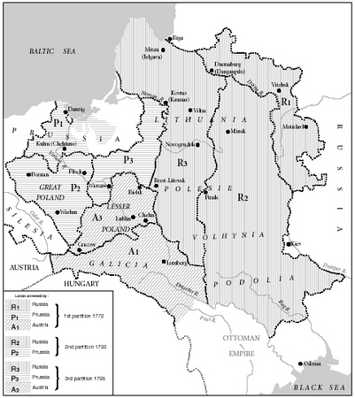 Map 1. The Partitions of Poland.
