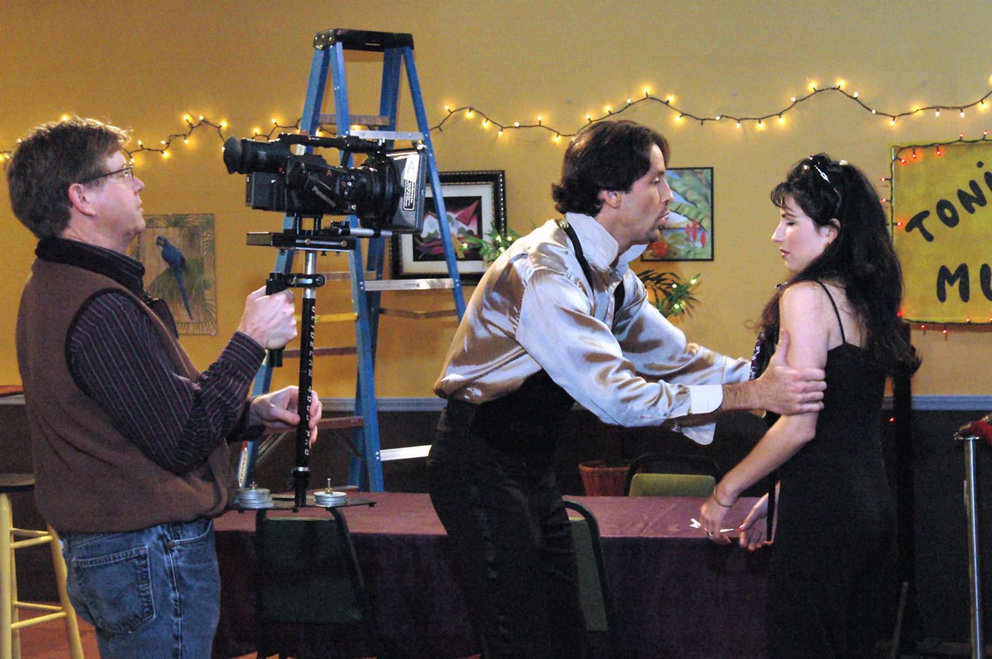 On the set of Nuestro Barrio (Our Neighborhood), a telenovela filmed and set in the United States. No longer exclusively the province of Latin America, U.S. telenovelas reflect the issues facing the Hispanic population in the United States.
