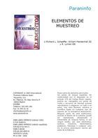 Elementos de muestreo, ed. 6