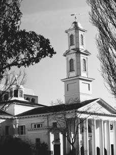 Saint Johns Episcopal Church. This church, known as the Church of the Presidents, stands opposite the White House on the north side of Lafayette Square in Washington, D.C. It was established in 1815 during James Madisons second administration t