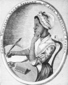 Phillis Wheatley. This engraving by Scipio Moorhead served as the frontispiece for Wheatleys Poems on Various Subjects, Religious and Moral (1773). Wheatley, an African-born woman living in slavery in the colonies, penned neoclassical verse tha