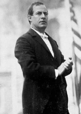 William Jennings Bryan, Democratic party presidential candidate, 1896.