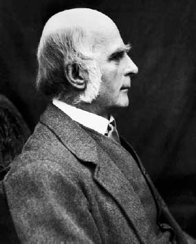 English scientist Sir Francis Galton (1822–1911). Galton is the founder of eugenics and is best known for his work in anthropology and heredity.