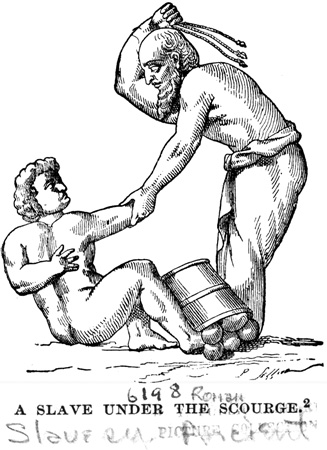 A Roman Slave Being Whipped.