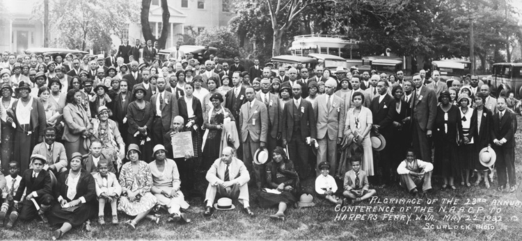 NAACP Pilgrimage to Harpers Ferry, 1932.