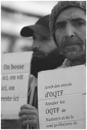 Undocumented Immigrants, France, March 9, 2012. Members of the action group Sans Papiers des Hauts de Seine, who are undocumented immigrants, demonstrate to call for the legalization of all undocumented immigrants in France.